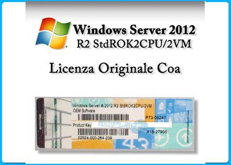 Windows Server 2012 Std R2 64bit Oem Pack Original microsoft windows server standard 2012 r2 x 64 bit oem 2 cpu 2 vm 5 cals sever2012 datacenter