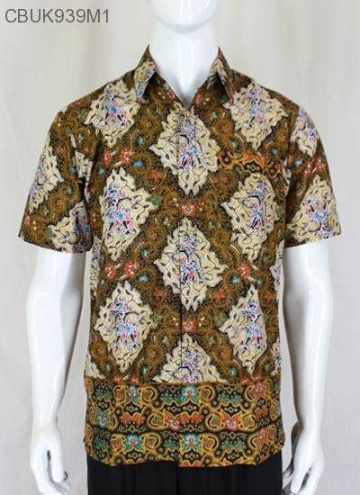 Gamis Batik Wayang Gunungan baju batik kemeja motif isi wayang kemeja lengan pendek murah batikunik