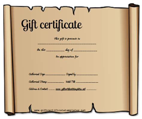 create your own certificate template make your own gift certificate printable free rachael