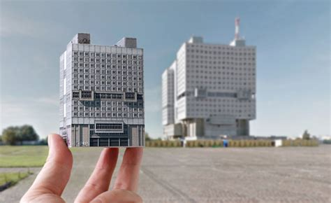 City Origami - origami eastern bloc buildings east