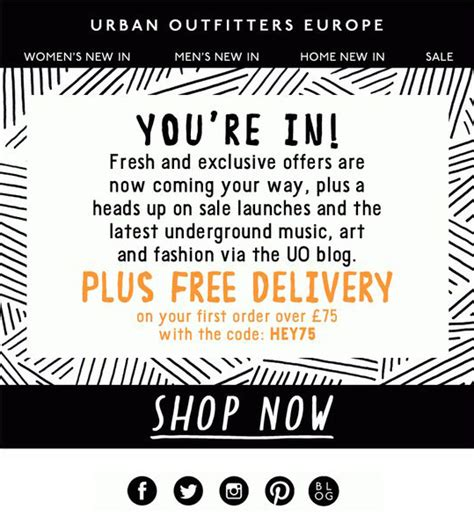 email format urban outfitters welcome email design inspiration 19 eye candy exles