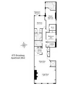 Narrow Apartment Floor Plans Loft Neighborhoods Soho Manhattan Loft