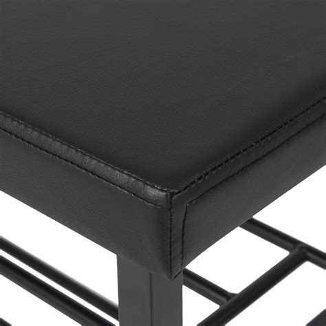 metal storage bench uk 2 tier metal storage bench shoe rack organize w leather