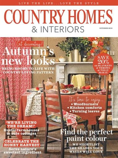 country homes and interiors subscription country homes interiors magazine october 2016