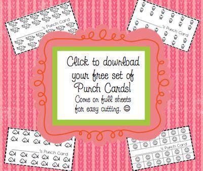 school carnival half sheet punch card template punchcard templates school ideas punch