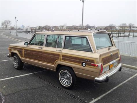 1989 Jeep Wagoneer Mpg Sell Used 1989 Jeep Grand Wagoneer Wagonmaster With Low