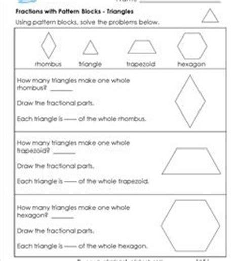 pattern block activities 4th grade pattern block fraction worksheets pattern block maze 4th