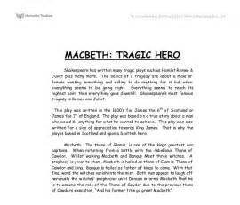 Introduction To Macbeth Essay by Macbeth Tragic A Level Marked By Teachers