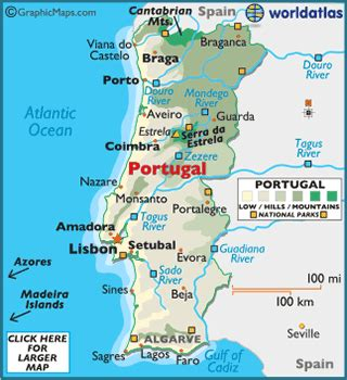 portugal facts on largest cities, populations, symbols