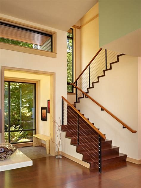 home interior stairs stair railing ideas to improve home design