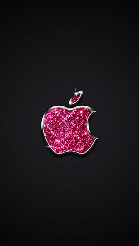 glitter wallpaper mac sparkle pink apple logo wallpaper universo feminino