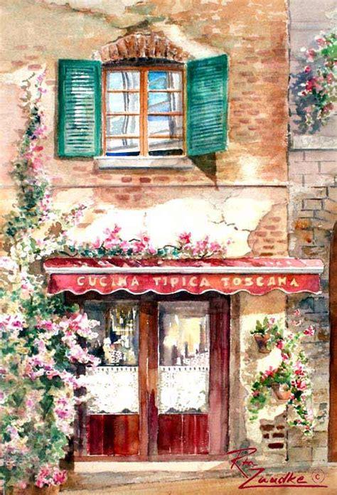 cucina toscana cucina toscana watercolor painting by zaudke