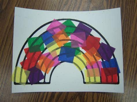 Tissue Paper Rainbow Craft - rainbow craft rainbow
