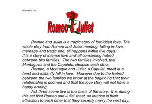 Romeo And Juliet Essay Introduction by Romeo And Juliet Is A Tragic Story Of Forbidden The Whole Play From Romeo And Juliet