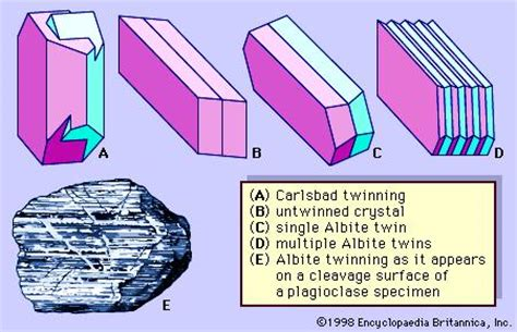 types of twinning in thin section carlsbad twin crystallography britannica com