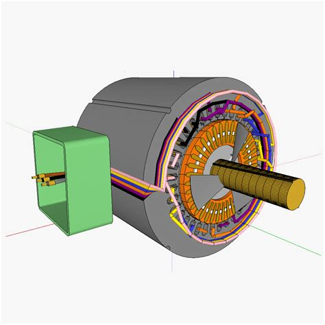 squirrel cage rotor induction motor squirrelcage rotor induction motor 3d model skp