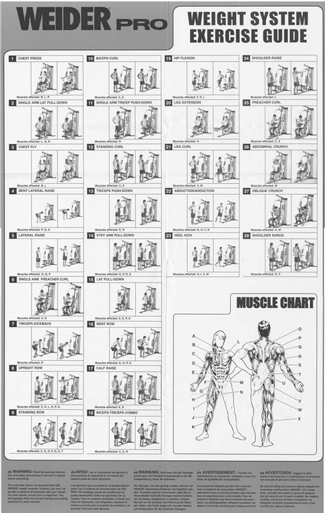 weight bench exercise guide notice weider pro 4500 mode d emploi notice pro 4500