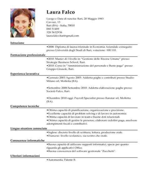 cv cameriere curriculum vitae 2016 pdf da compilare
