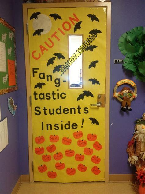 caution fangtastic students inside door decoration