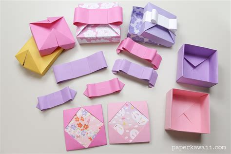 origami gifts origami gift box mix match lids paper kawaii
