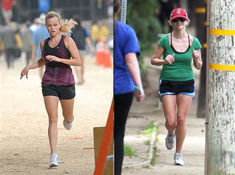 keri russell exercise routine running like reese witherspoon marathon mummy in training