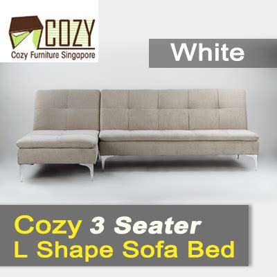 cozy and comfortable enveloppe sofa qoo10 cozy comfortable 3 seater l shape sofa bed white