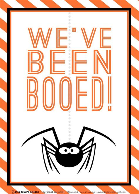 free printable you ve been booed sign grey square designs you ve been booed free printable