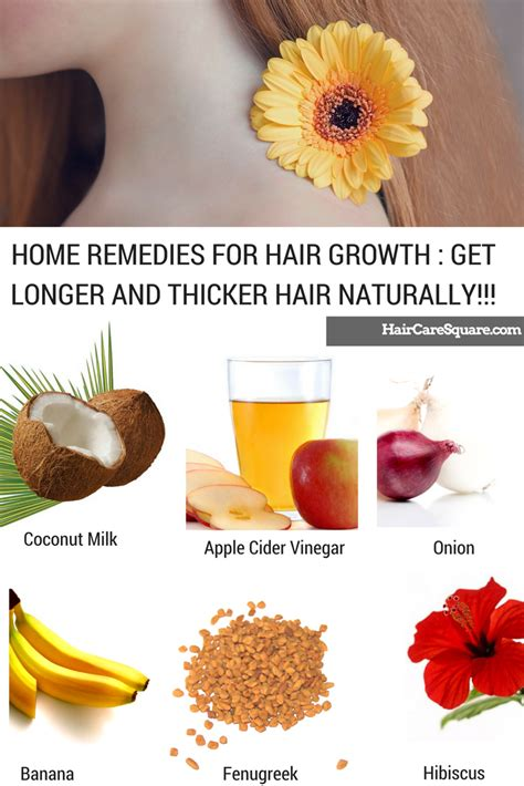 home remedies for hair growth get longer and thicker