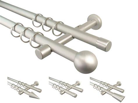 gardinenschiene zweilaufig alu gardinenstangen alu silber metall zweil 228 ufig
