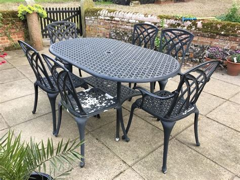 metal patio furniture sets cast metal garden furniture set in norwich norfolk