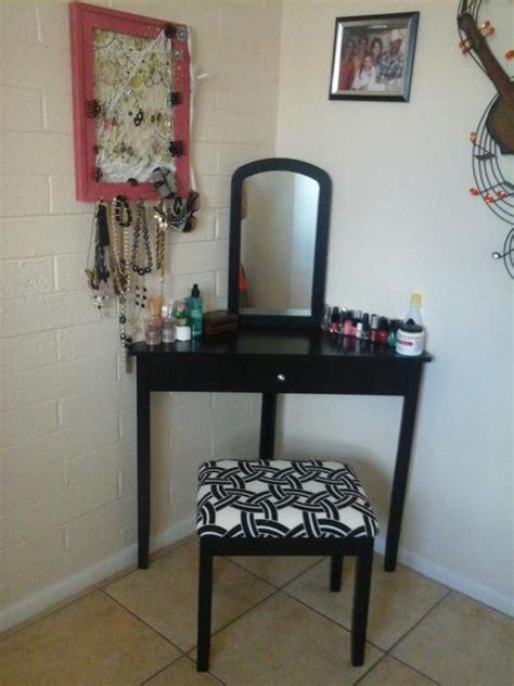Corner Vanity Table Black Corner Vanity