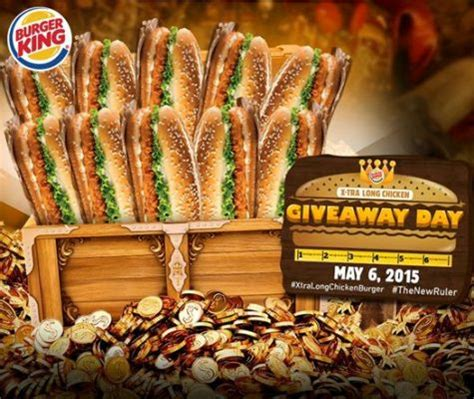 Burger King Giveaway - giveaway promos contests sales and discounts philippines