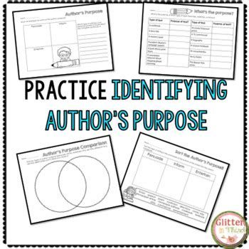 printable author s purpose poster author s purpose worksheets printables by glitter in