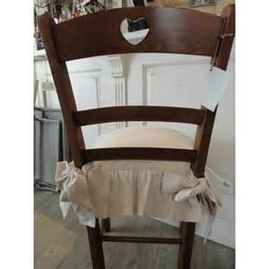 housse de coussin de chaise 224 volant ivoire charmedantan