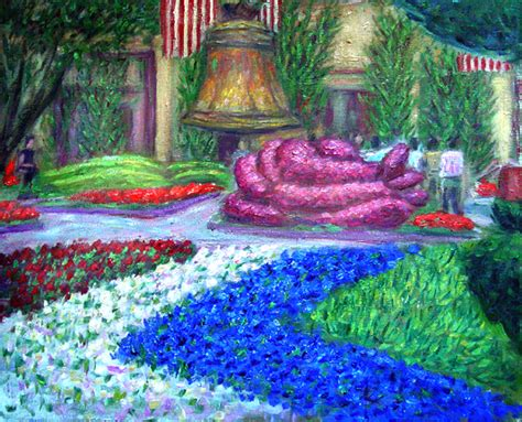Quot Bellagio Garden Quot Flower Garden Paintings And Prints By Paulb Bellagio Flower Garden