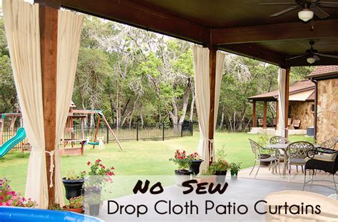 how to make patio curtains diy patio curtains from drop cloths with no sewing