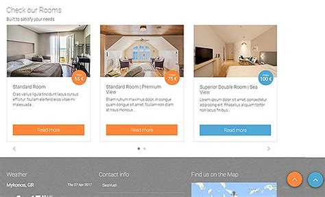 bootstrap templates for hotel management seavuel multilingual hotel website with cms