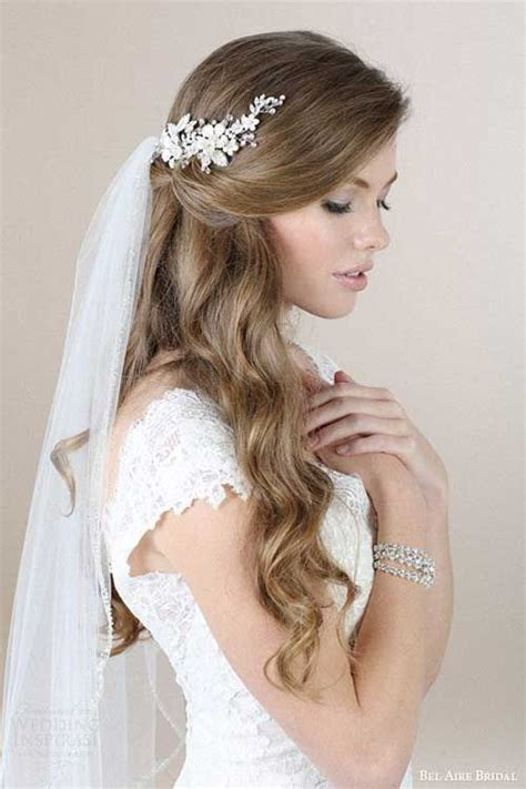 Wedding Hairstyles For Veil by Best 25 Wedding Hairstyles Veil Ideas Only On