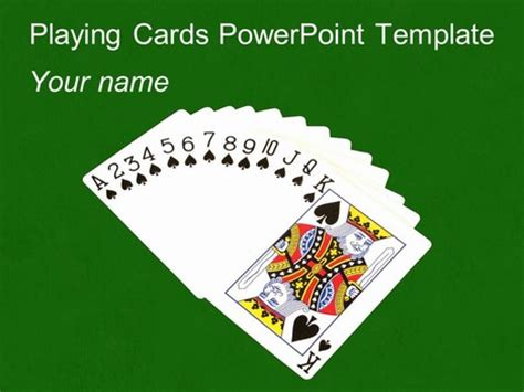 card powerpoint template cards powerpoint template