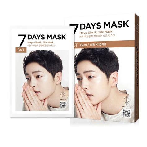 Forencos 7 Days Mask Song Jong Ki Saturday Mayu Elastic Silk Mask Ma 3 forencos song joong ki 7 days mask end 3 1 2019 6 51 pm