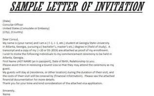 letter of invitation for visa template resume builder