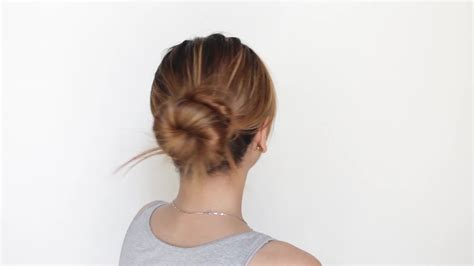 in bun how to make a bun with extremely hair 13 steps