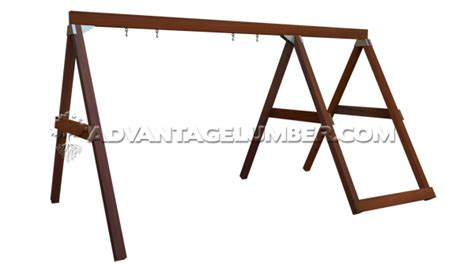 wooden a frame swing set how to build a wood swing set