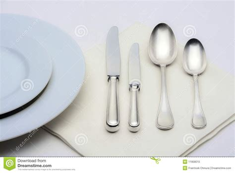 How To Set Silverware On Table by Silverware Royalty Free Stock Photo Image 11958015