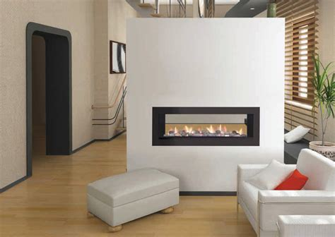 sided gas fireplace warmer unique room divider