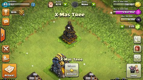 in coc xmas tree in 2016 in clash of clans what do i get for tree removal without the sarcasm