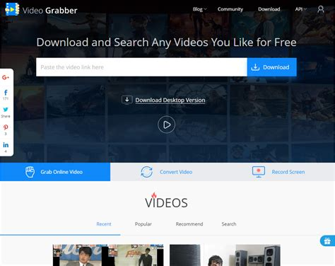 online tutorial for net videograbber net review tutorial step 1 open index page