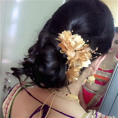 Wedding Hairstyles For Reception by South Indian Bridal Hairstyles For Receptions