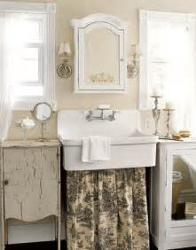 beautiful Shabby Chic Kitchen Decor #1: Bathroom-Toile-Sink-Skirt-HTOURS0307-de.jpg
