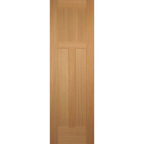 Hemlock Interior Doors Builder S Choice 24 In X 80 In 3 Panel Craftsman Solid Hemlock Single Prehung Interior